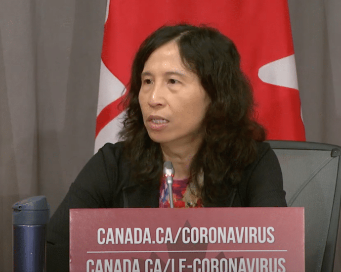 Dr. Theresa Tam during Tuesday briefing